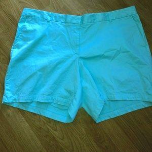 Lands End Plus Size 26W Shorts Blue